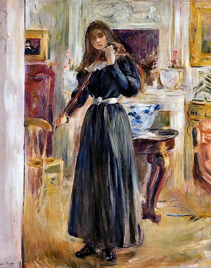 Berthe Morisot, Julie au violon, 1893