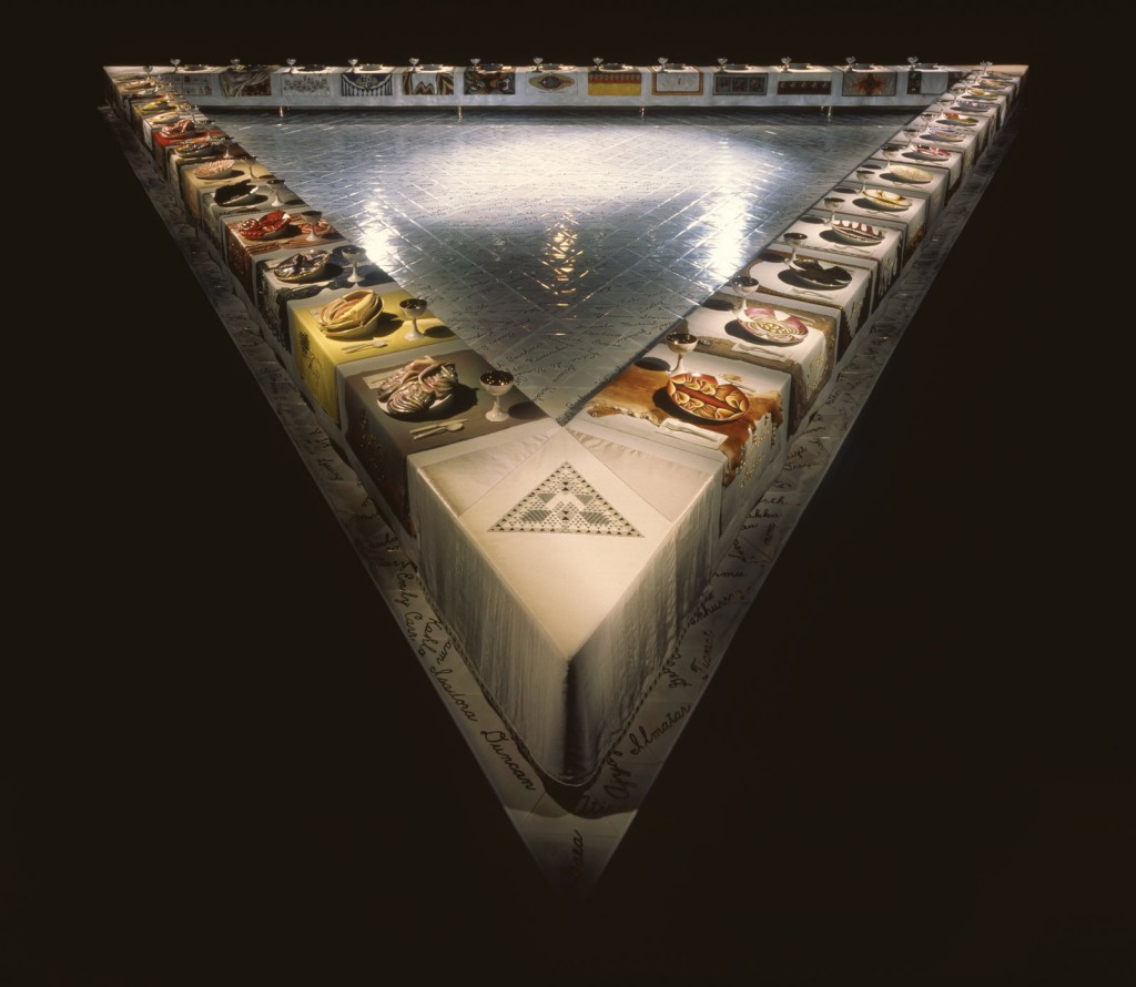 Judy Chicago,The Dinner Party, 1974-1979
