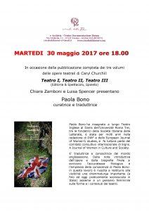 Caryl Churchill e Paola Bono @ Sede di Archivia | Verona | Veneto | Italia